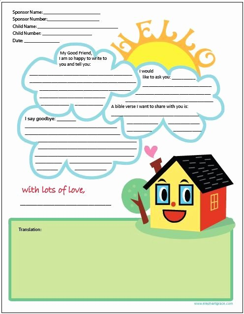 Letter Writing Templates for Kids Lovely Passion Letter Templates Passion
