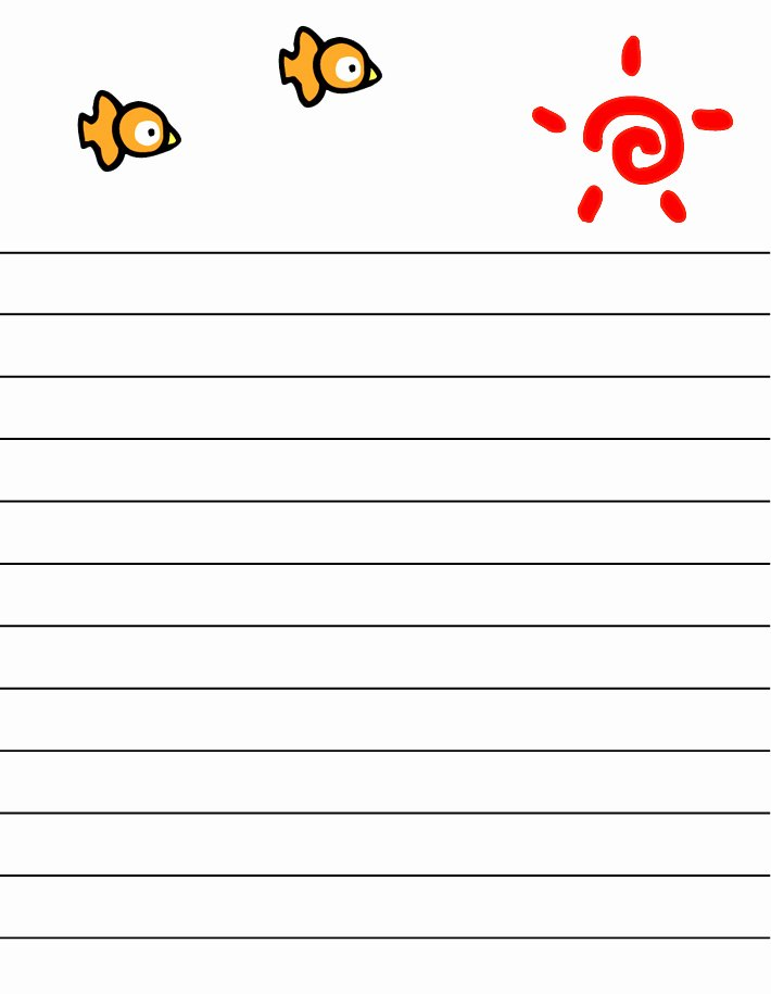 Letter Writing Templates for Kids New Best S Of Letter Paper with Lines Free Printable