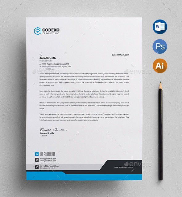 Letterhead Design In Word Awesome 50 Best Letterhead Design Templates 2018 Psd Word Pdf