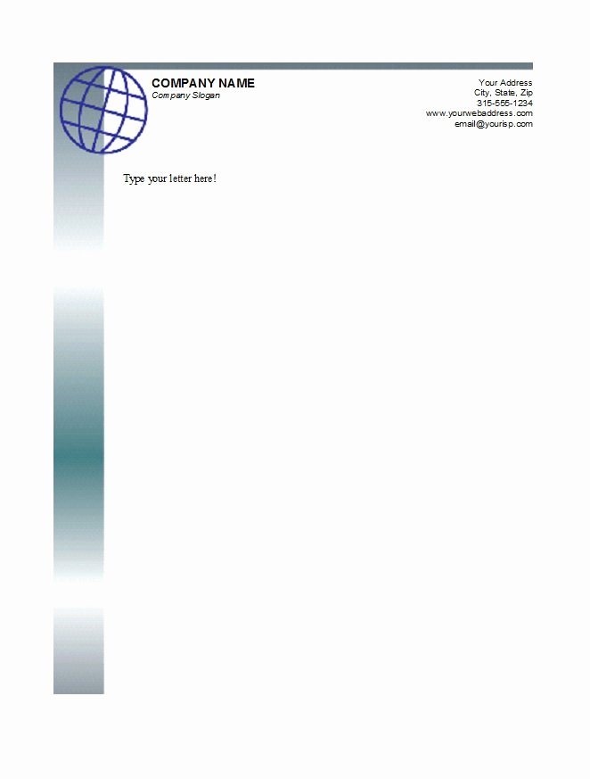 Letterhead Design In Word Beautiful 45 Free Letterhead Templates & Examples Pany