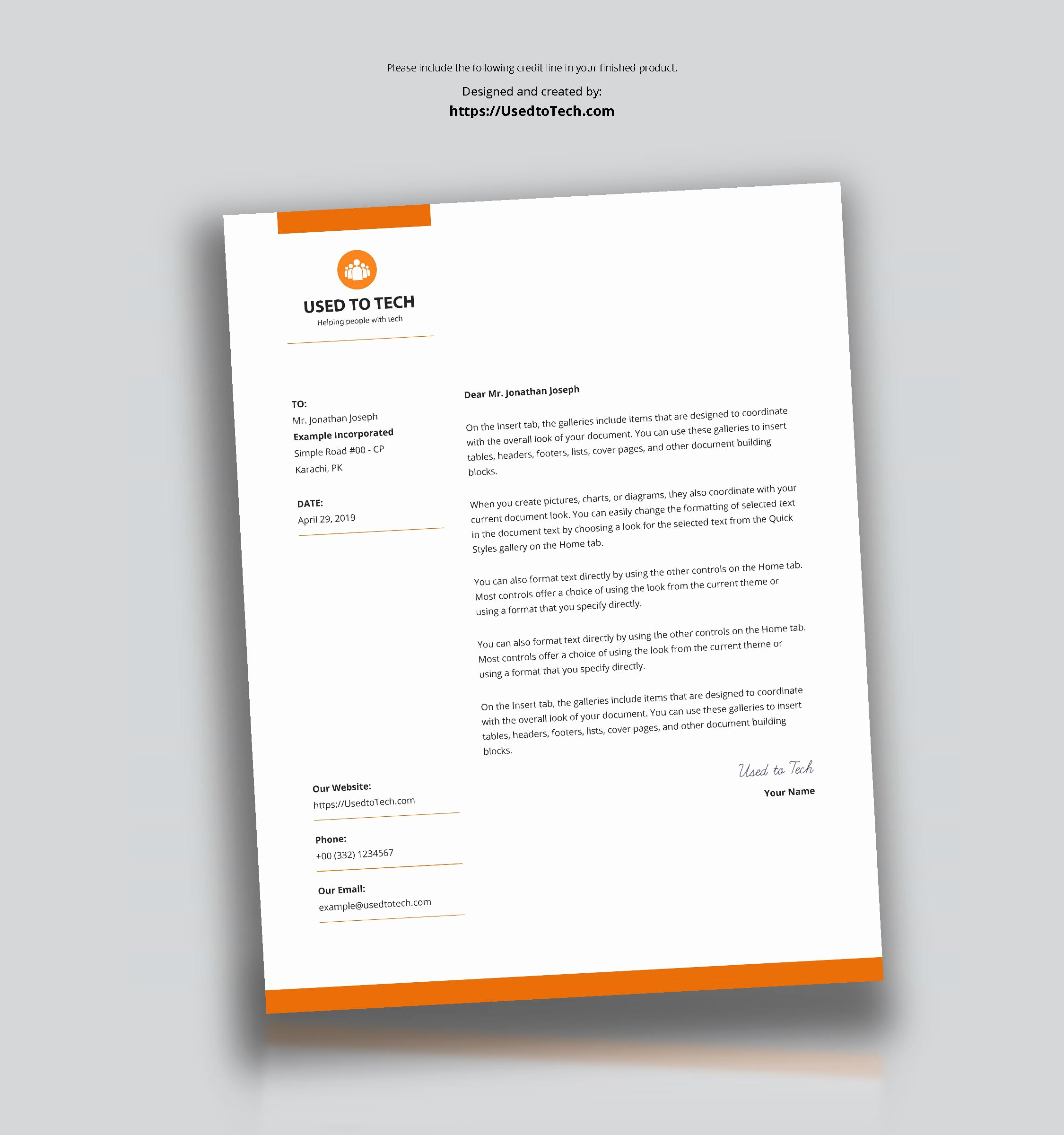 Letterhead Design In Word Beautiful Modern Letterhead Template In Microsoft Word Free Used