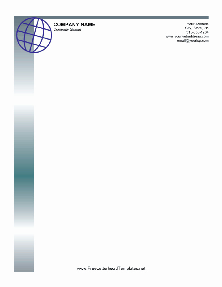 Letterhead Design In Word Beautiful Professional Letterhead with A Globe Design In Blue Free