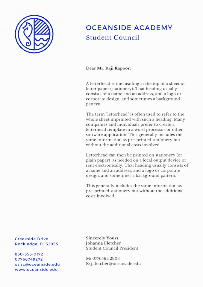 Letterhead Design In Word Best Of Create Your Own Letterhead