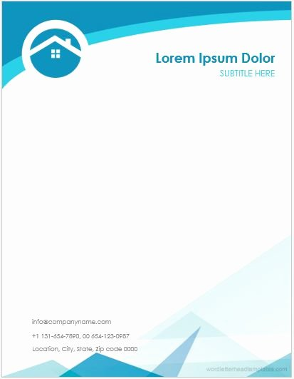 Letterhead Design In Word Fresh 5 Real Estate Agent Fice Letterhead Templates