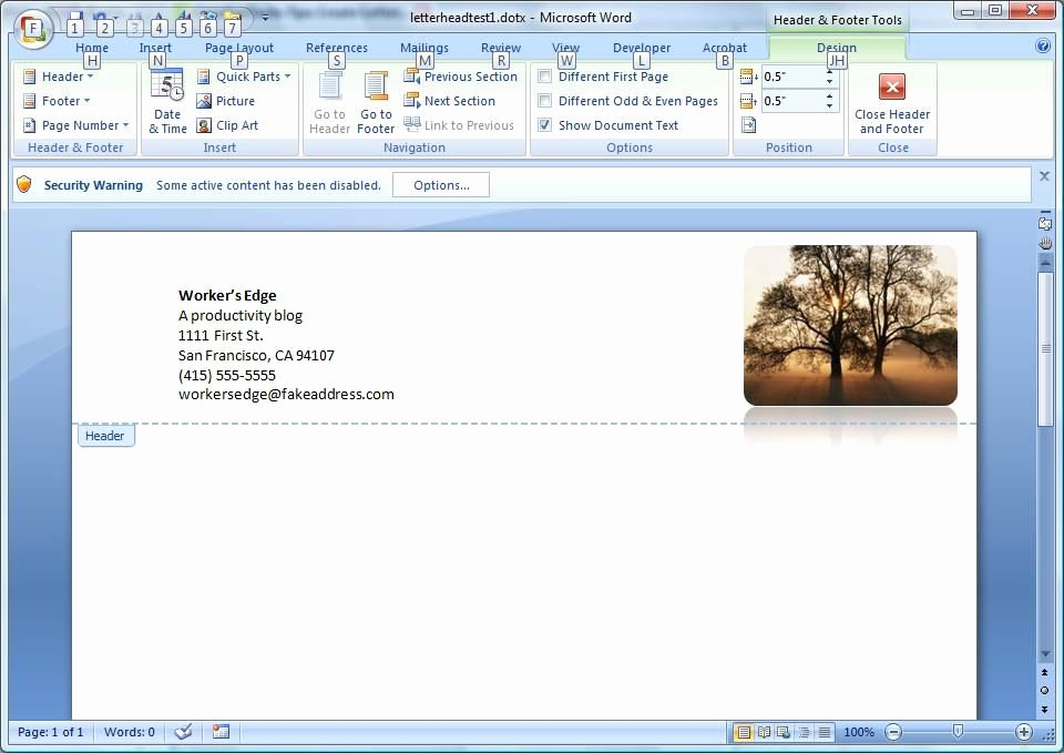 Letterhead Design In Word New Create A Letterhead Template In Microsoft Word Cnet