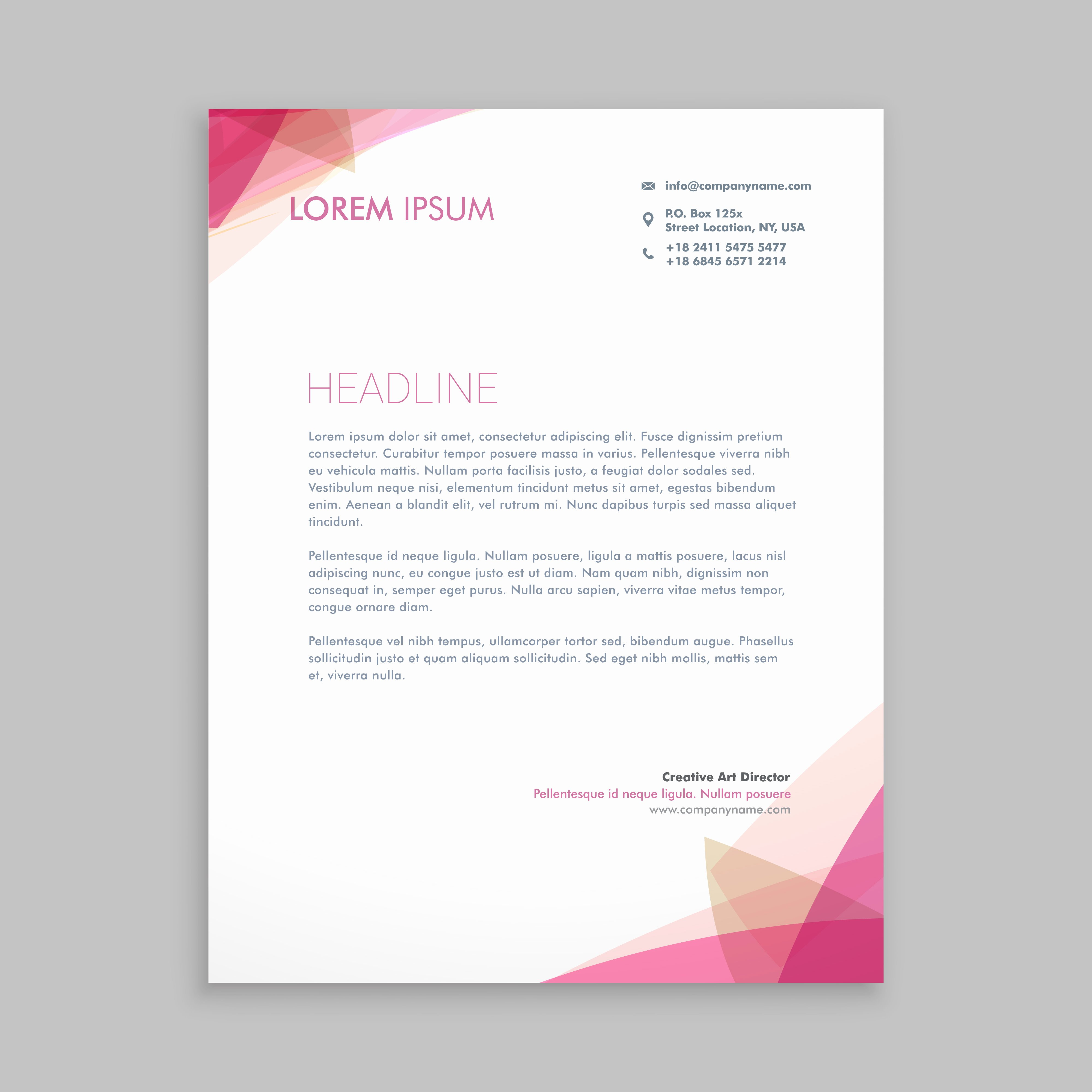 Letterhead Design In Word New Letterhead Free Vector Art 25 011 Free Downloads