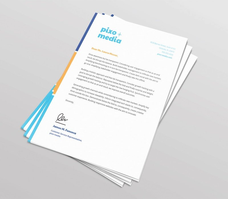 Letterhead Design In Word Unique 20 Professional Business Letterhead Templates and