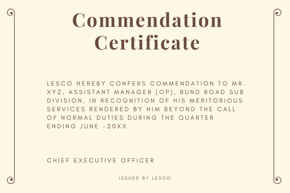 Letters Of Commendation Sample Beautiful Certificate Of Appreciation format