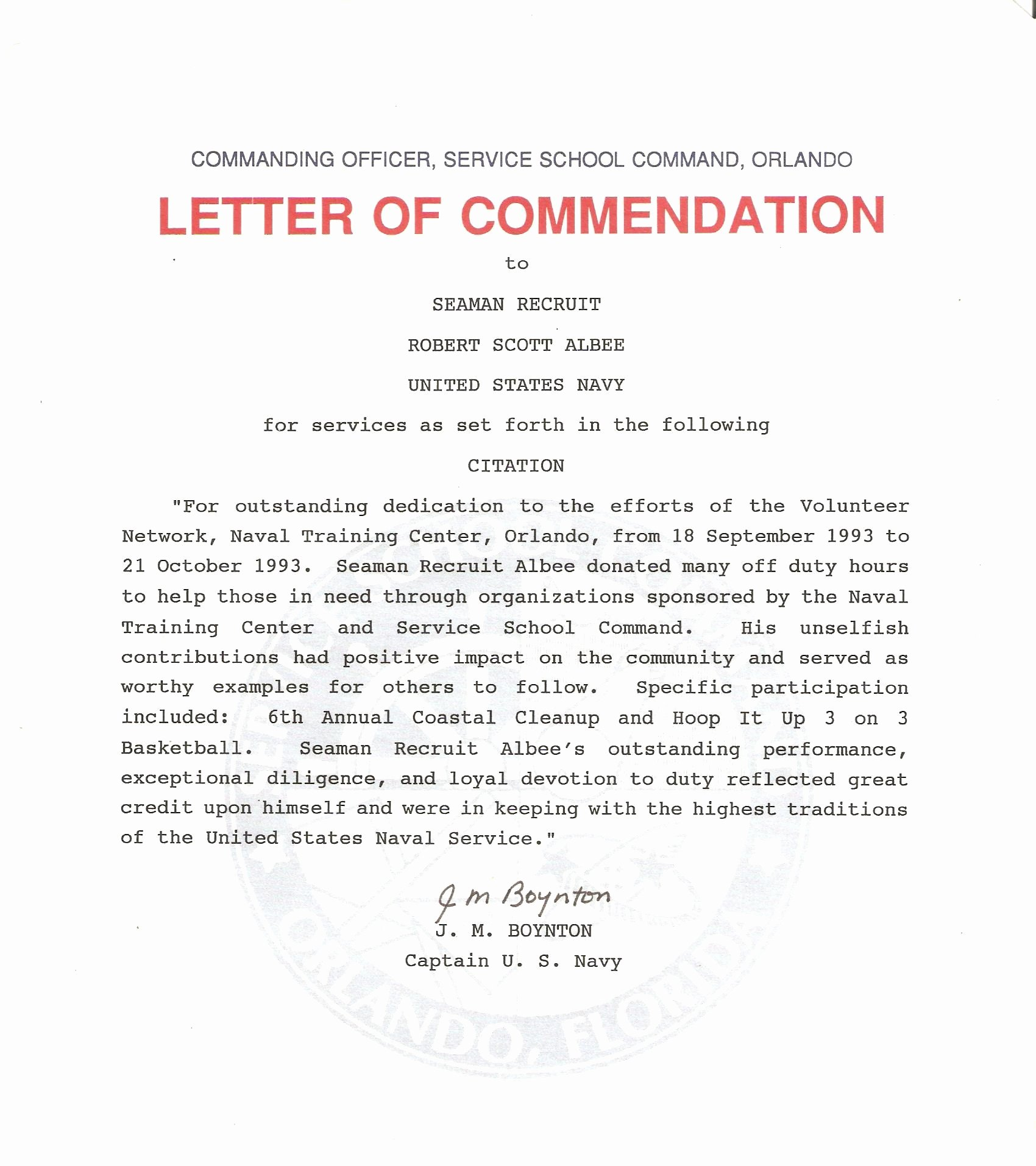 Letters Of Commendation Sample Best Of Best S Of Example Letter Mendation Navy
