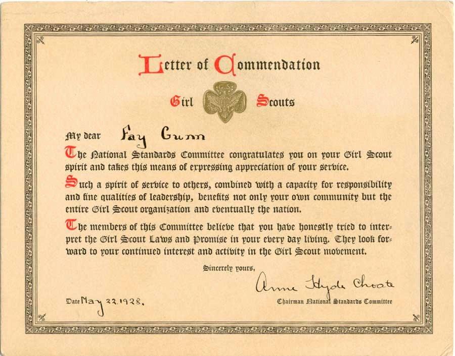 letter of mendation