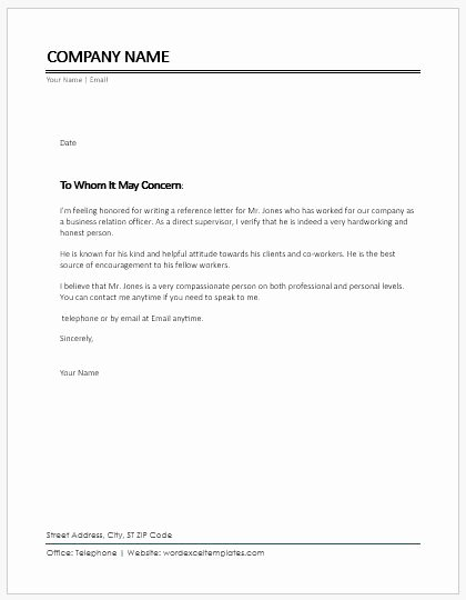 Letters Of Recommendation Coworker Awesome Character Reference Letter for Coworker