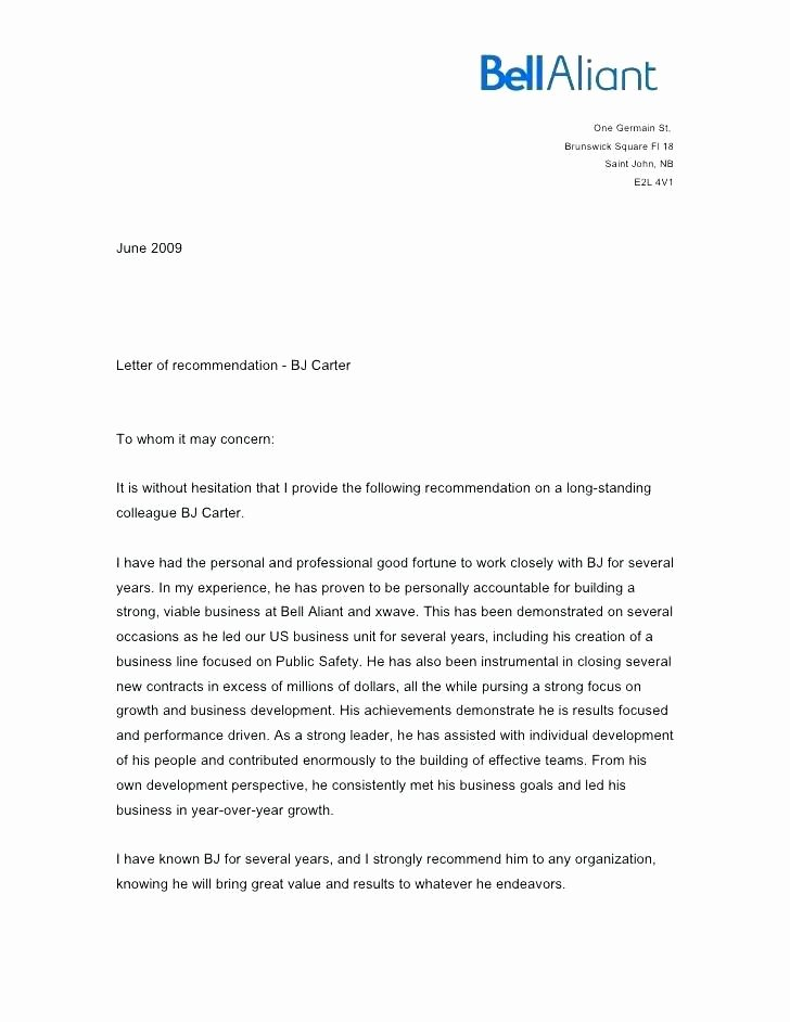 Letters Of Recommendation Coworker Fresh Letter Of Re Mendation for Coworker former Coworker