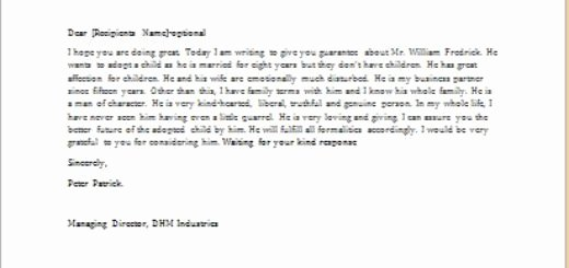 Letters Of Recommendation for Adoption Lovely Reference Letter for A Co Worker