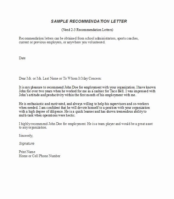 Letters Of Reference for Employment Best Of 50 Best Re Mendation Letters for Employee From Manager