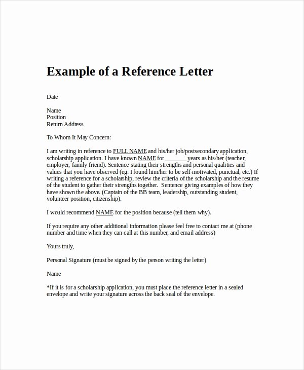 Letters Of Reference for Employment Best Of Employment Reference Letter 11 Free Word Excel Pdf