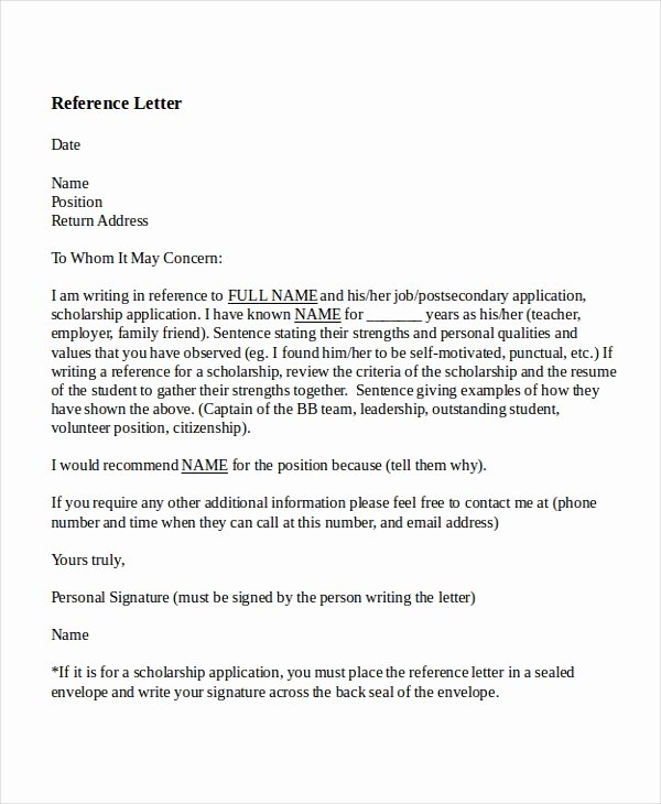 Letters Of Reference for Teachers Fresh 8 Reference Letter for Teacher Templates Free Sample