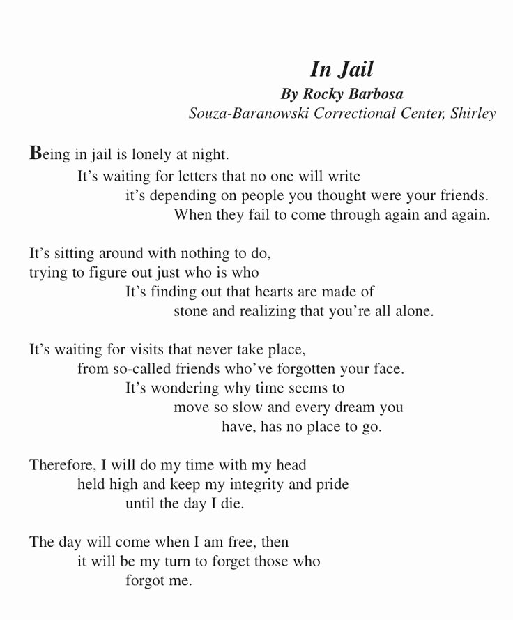 Letters to Him In Jail Lovely Love Poems for Him In Jail