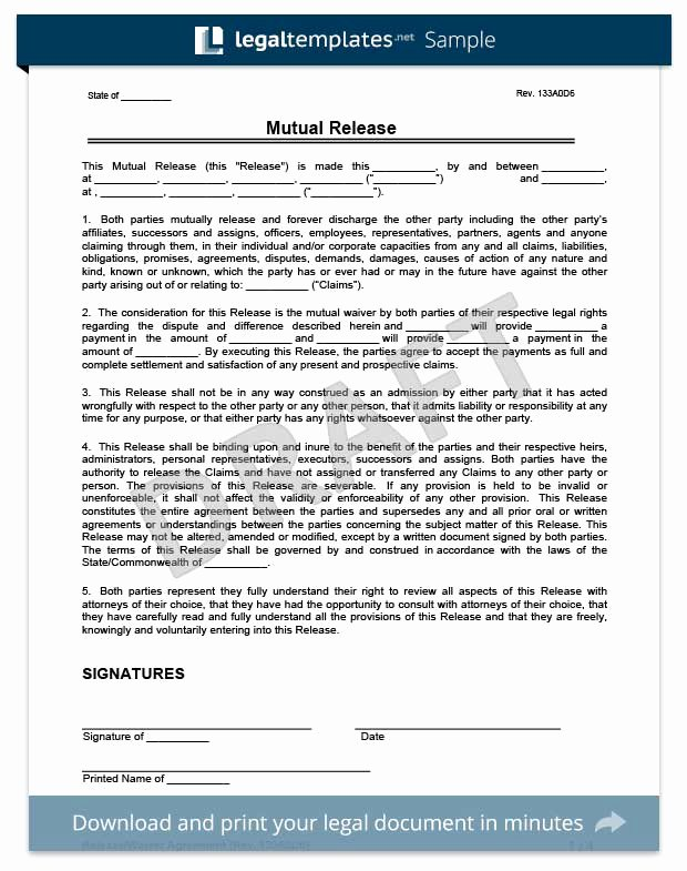 Liability Waiver forms Template Inspirational Free Release Of Liability form