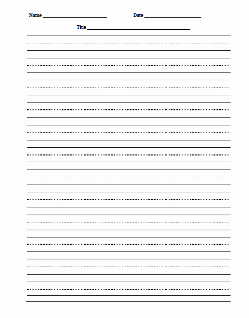 Line Paper for Kindergarten Awesome Freebie Editable Word Document with Lines for
