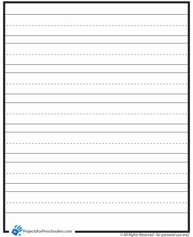 Line Paper for Kindergarten Elegant Lined Paper Projects for Preschoolers
