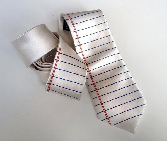 Lined College Ruled Paper Elegant Notebook Paper Necktie College Ruled Wide Ruled Lined Paper