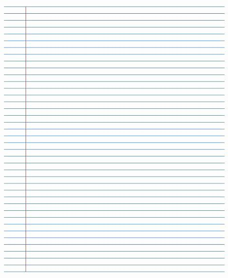 Lined College Ruled Paper Lovely College Ruled