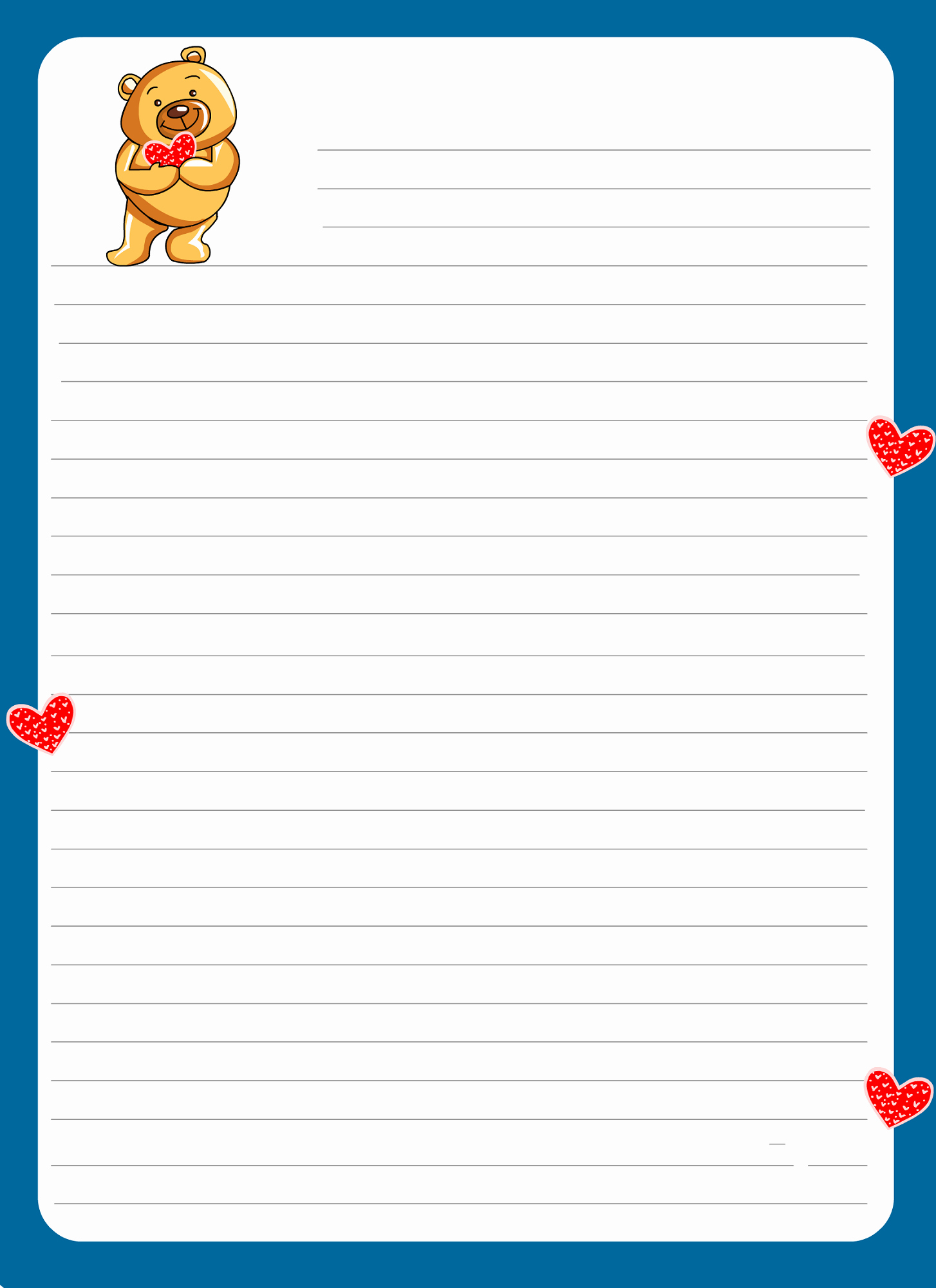 Lined Letter Writing Paper Awesome Lined Paper for Kids Notebook Paper Templates