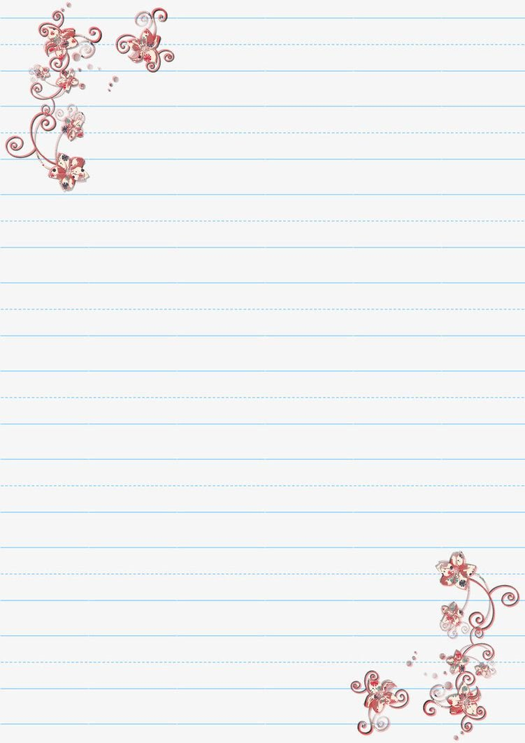 Lined Letter Writing Paper Elegant Letter Writing Paper 2 by Kitten Red