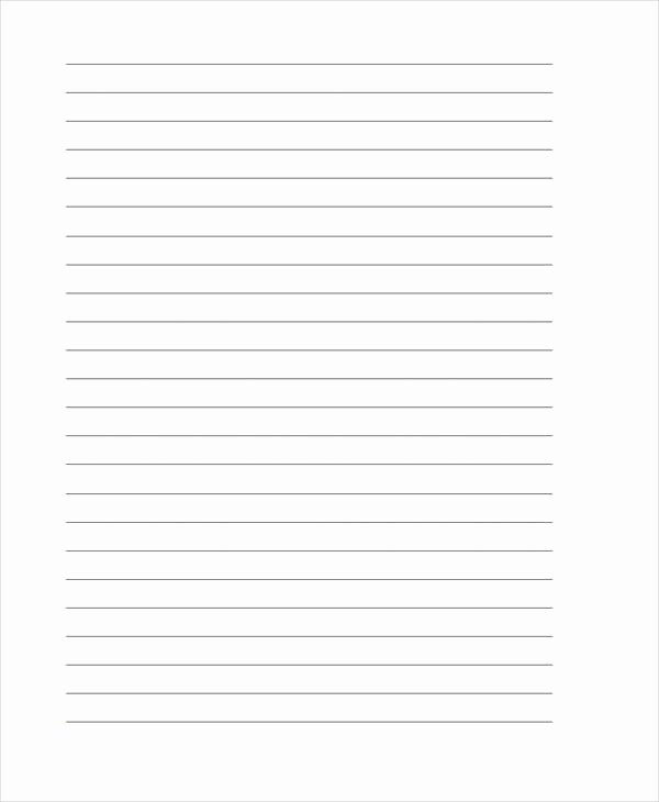 Lined Letter Writing Paper Luxury 25 Free Lined Paper Templates