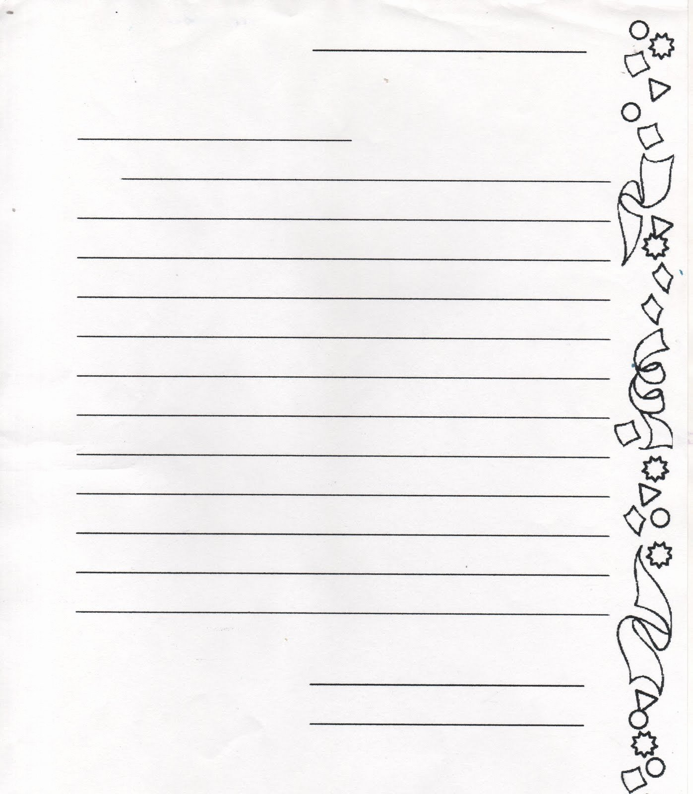 Lined Letter Writing Paper New Elementary School Enrichment Activities Pen Pal Ideas