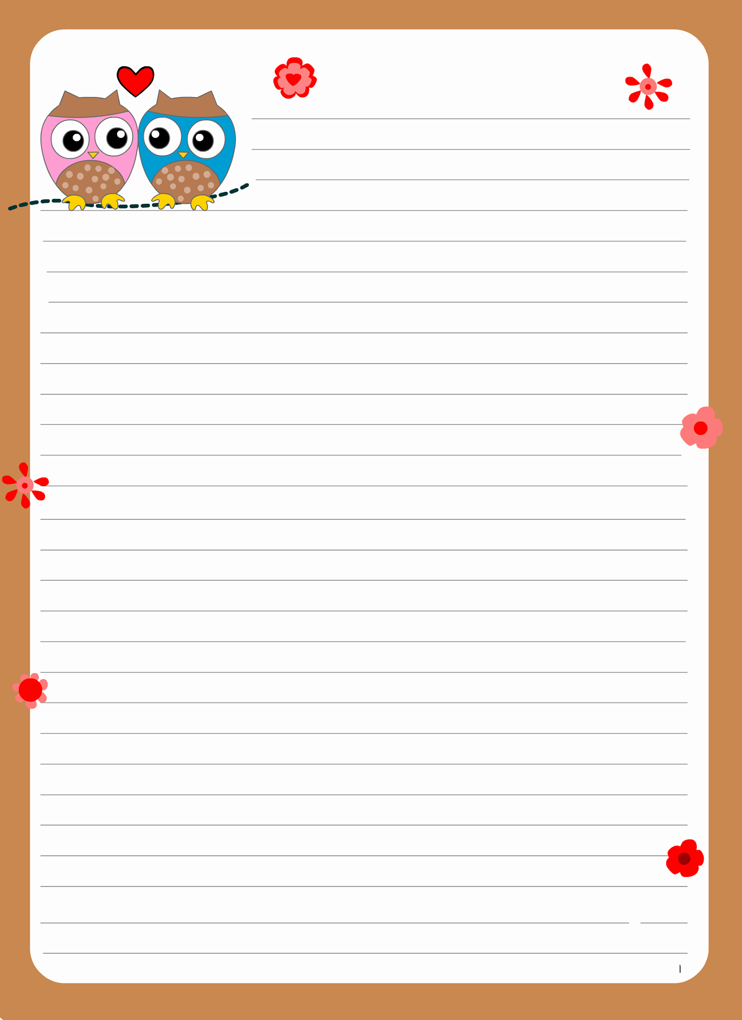 Lined Writing Paper Elegant Lined Paper for Writing for Cute Writing Paper