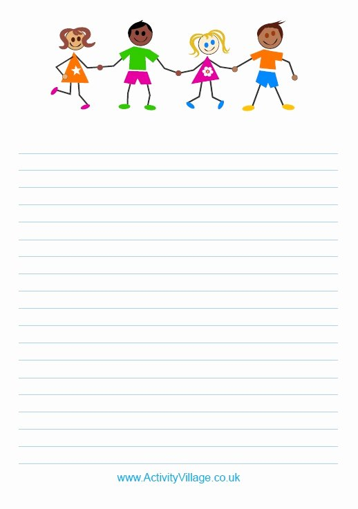 Lined Writing Paper for Kids Beautiful 29 Best Writing Paper Images On Pinterest