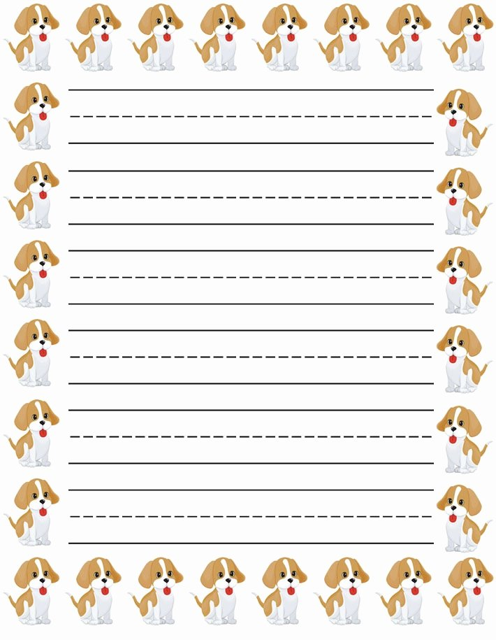 Lined Writing Paper for Kids Beautiful Lined Paper for Kids