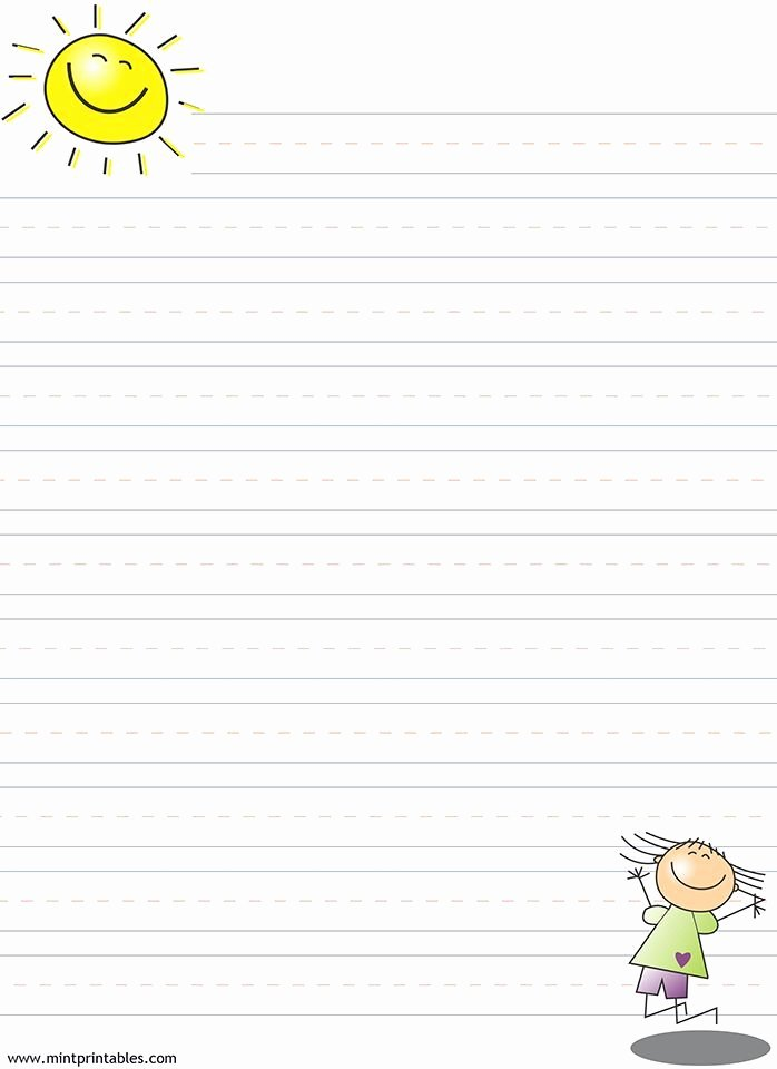 Lined Writing Paper for Kids Elegant Free Printable Writing Pages for Kids