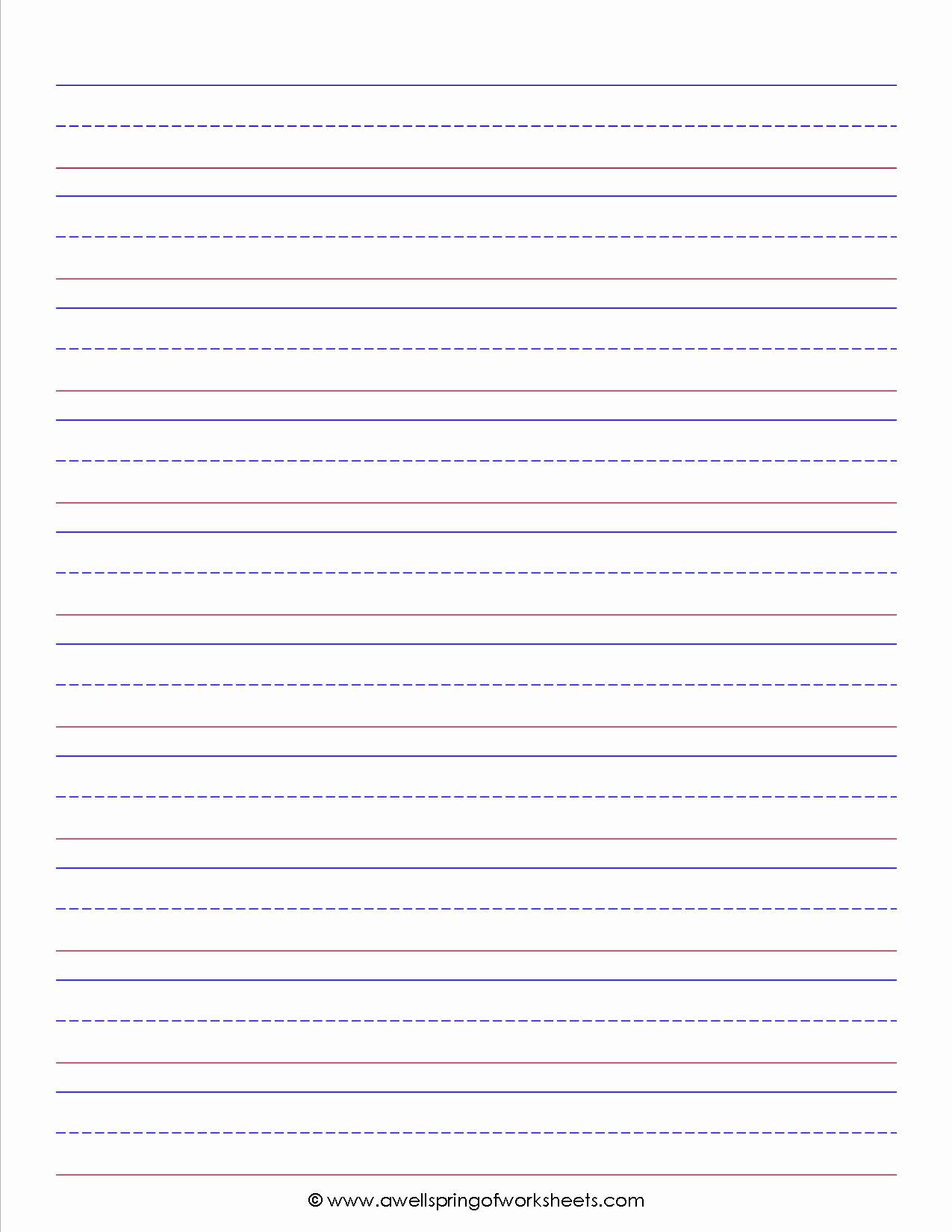 Lined Writing Paper Luxury Best S Of 3 Lined Paper Template Kindergarten Lined
