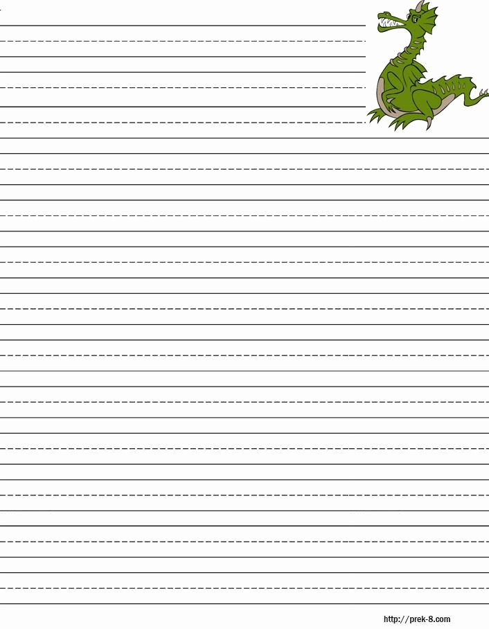 Lined Writing Paper New Handwriting Paper to Print