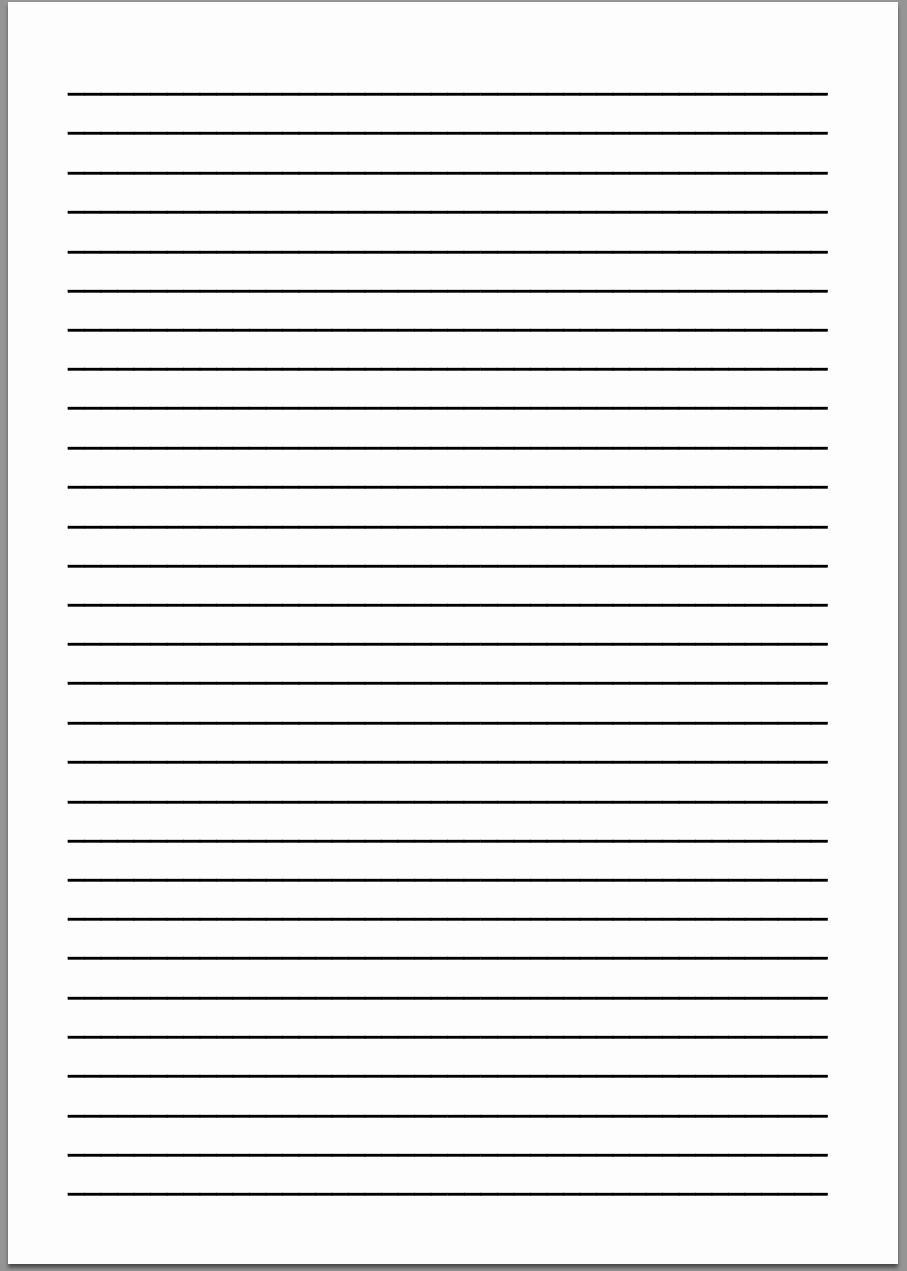Lined Writing Paper Template Awesome Best S Of Printable Sheet Lined Paper Free