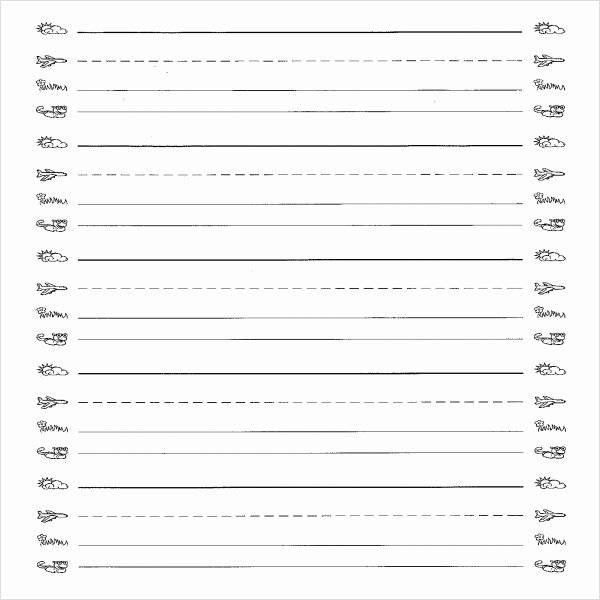 Lined Writing Paper Template Best Of Free 6 Printable Writing Paper Templates In Pdf