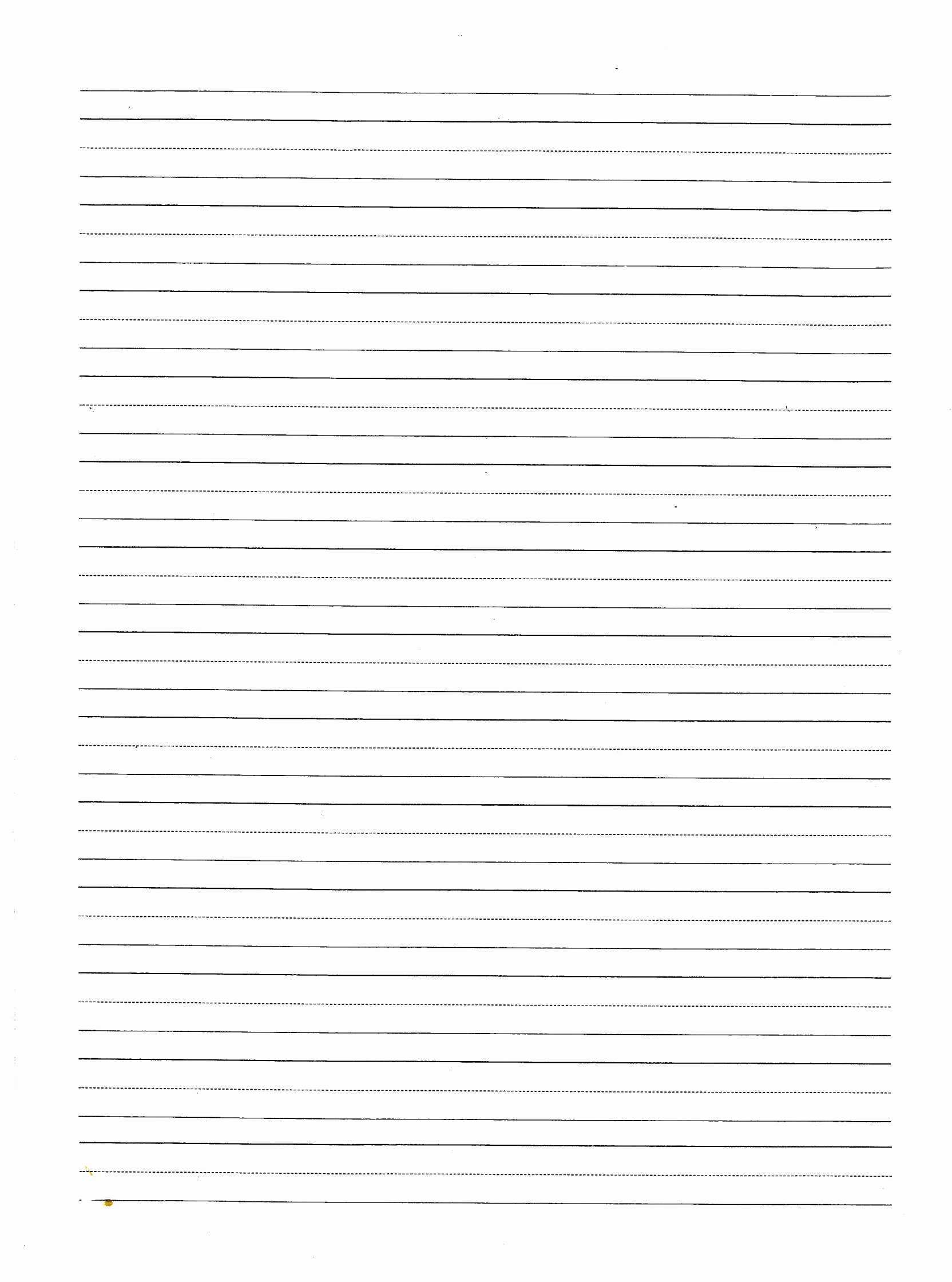 Lined Writing Paper Template Fresh Beginning Writer Lined Paper