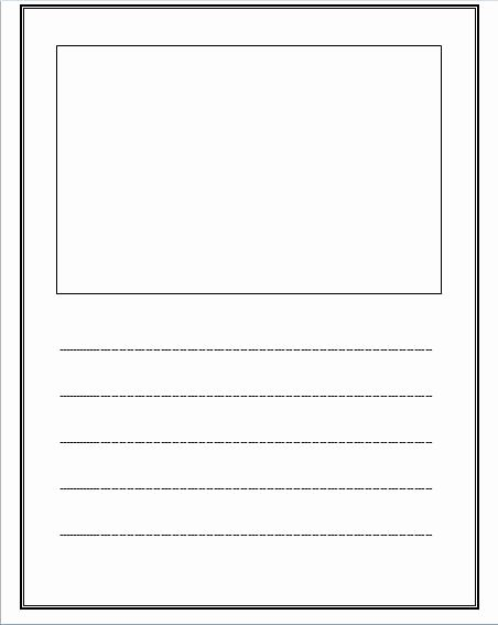 Lined Writing Paper Template Fresh Free Lined Paper with Space for Story Illustrations