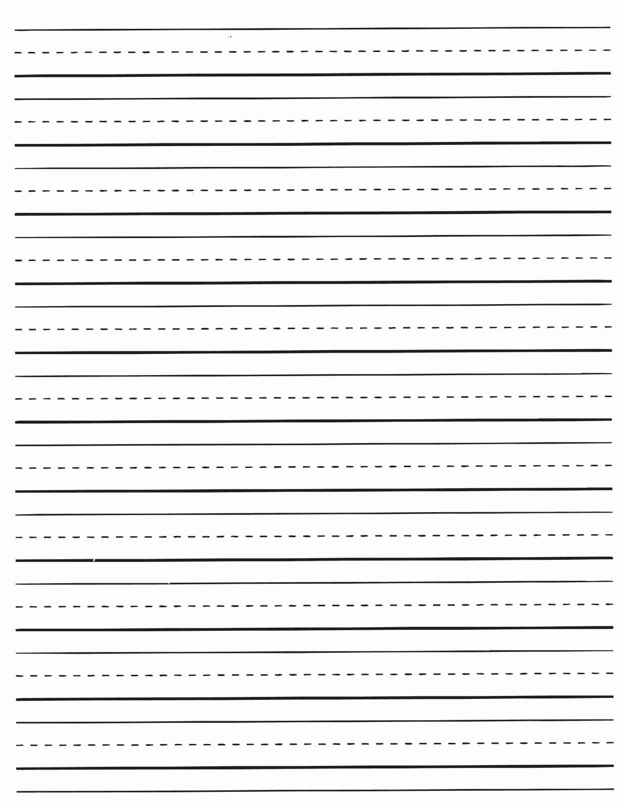 Lined Writing Paper Template Fresh Printable Dotted Lined Paper Printable Pages