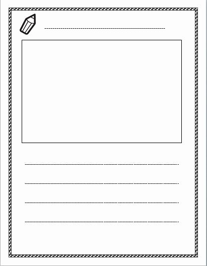 Lined Writing Paper Template Inspirational Free Lined Paper with Space for Story Illustrations