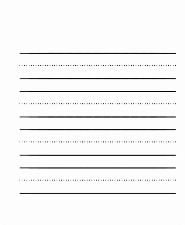 Lined Writing Paper Template Unique 26 Sample Lined Paper Templates