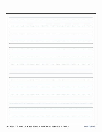 Lined Writing Paper Template Unique Lined Writing Paper for Kids Printable Template