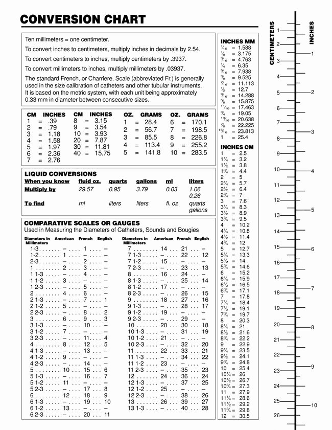 Liquid Measurement Conversion Table Elegant Printable Liquid Measurement Conversion Charts with Guide