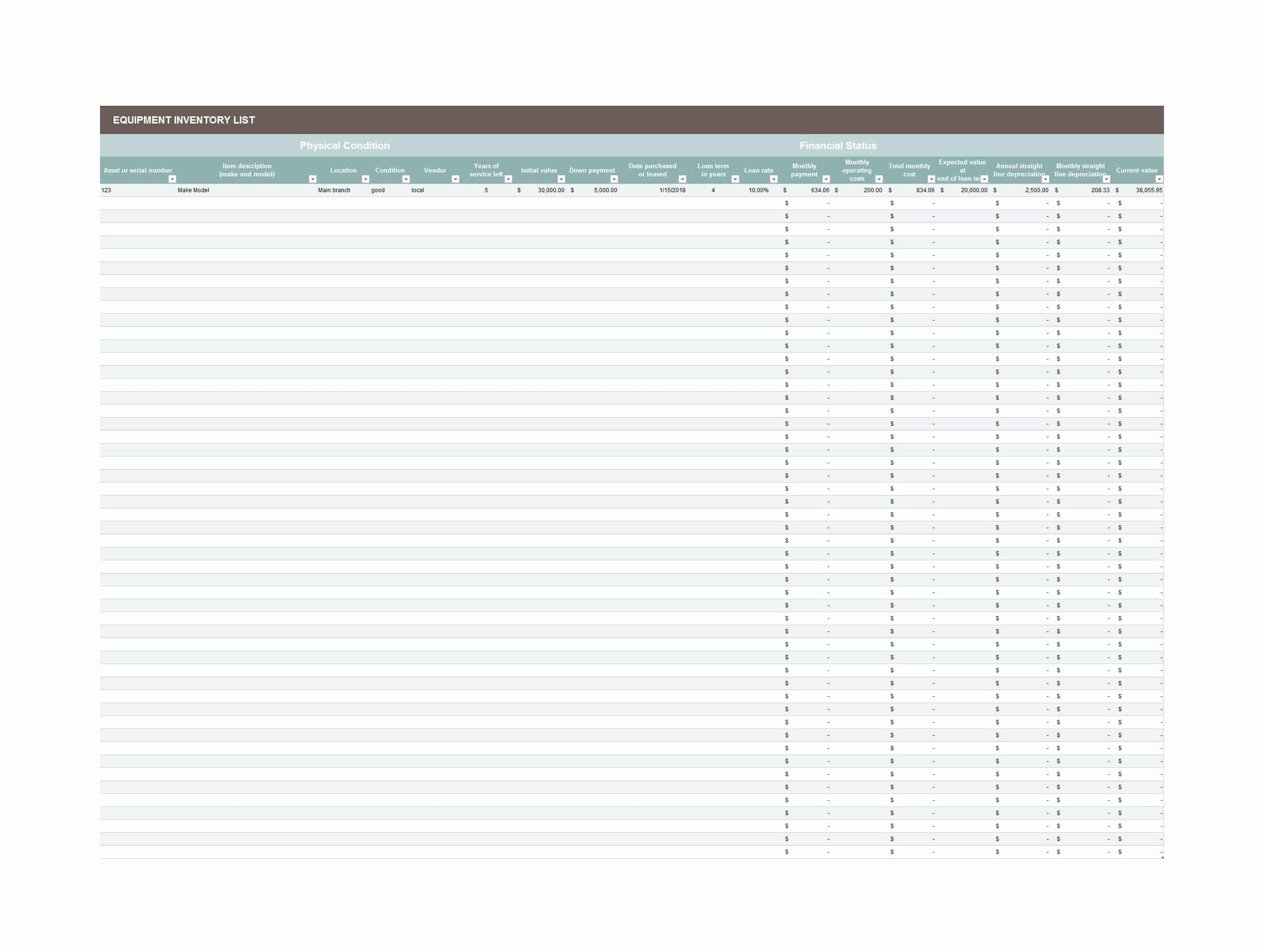 List Of Personal assets Elegant 48 Useful asset List Templates Personal Business Etc