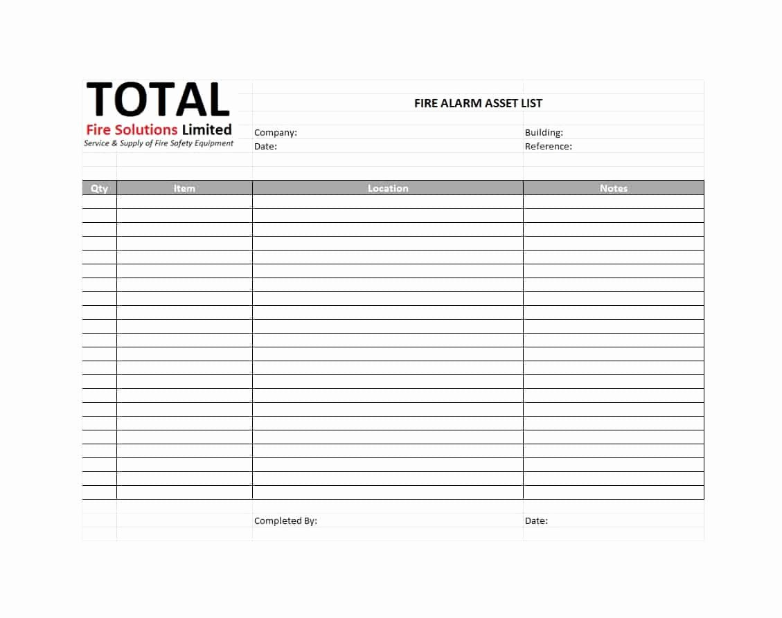 List Of Personal assets Luxury 48 Useful asset List Templates Personal Business Etc