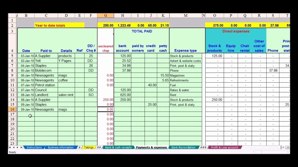 Llc Capital Account Spreadsheet Elegant Simple Accounting Spreadsheet for Small Business