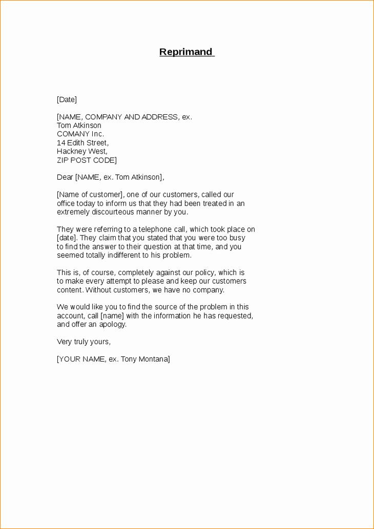 Log Book Violation Warning Letter Best Of 6 Sample Letter Of Reprimand