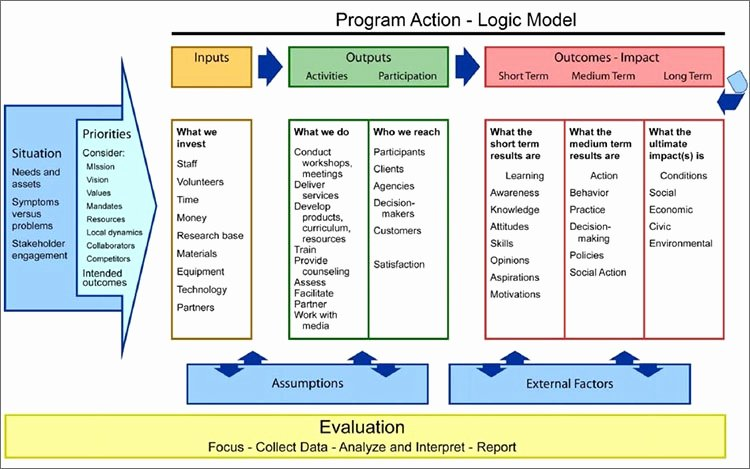 Logic Model Template Word Lovely Logic Model Template